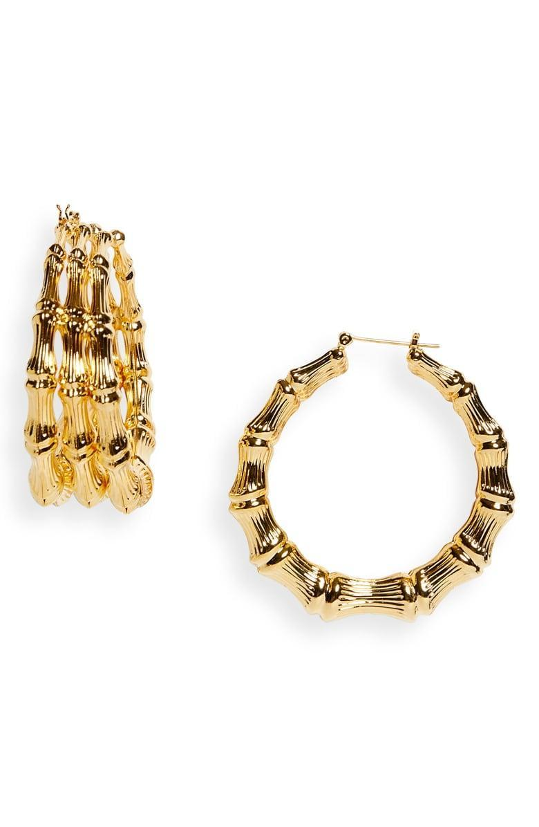 <p>These <span>L'Enchanteur Trinity Hoop Earrings</span> ($340) are gorgeous.</p>
