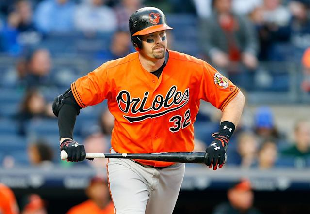 "Catcher <a class=""link rapid-noclick-resp"" href=""/mlb/players/8395/"" data-ylk=""slk:Matt Wieters"">Matt Wieters</a> is the best remaining free agent. (Getty Images)"
