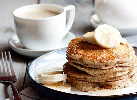 """<strong>Get the <a href=""""http://www.portuguesegirlcooks.com/2012/05/healthier-buttermilk-pancakes.html#"""" target=""""_hplink"""">Whole Wheat-Flax Buttermilk Pancakes recipe</a> from Portuguese Girl Cooks</strong>"""