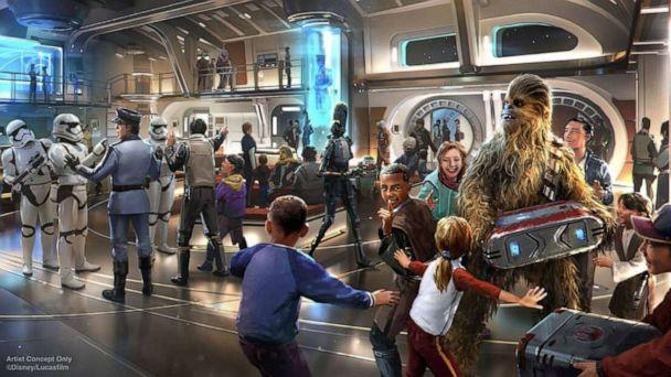PHOTO: Artist rendering of an experience on Star Wars: Galactic Starcruiser. (Disney/ Lucasfilm)