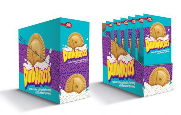 PHOTO: General Mills' new 'Dunkaroo' packaging is pictured in an image released on Feb. 3, 2020, with the news that the cookies will be returning to shelves in the summer. (General Mills)