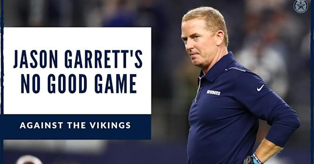 This hasn't been Jason Garrett's best week