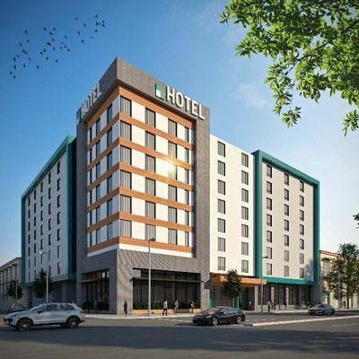Select service hotel rendering