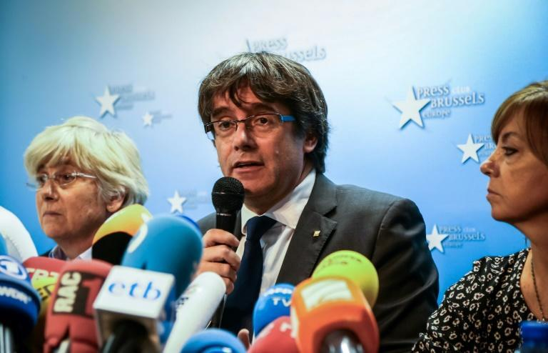 Carles Puigdemont, who was dismissed by Madrid after the Catalan parliament declared independence last month, is in Belgium facing extradition on charges of rebellion and sedition
