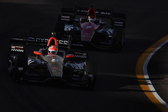 SPM fields the Nos. 5 and 7 cars in the IndyCar Series and is teaming with Didier Calmels for a third car in the 2018 500. (Getty)