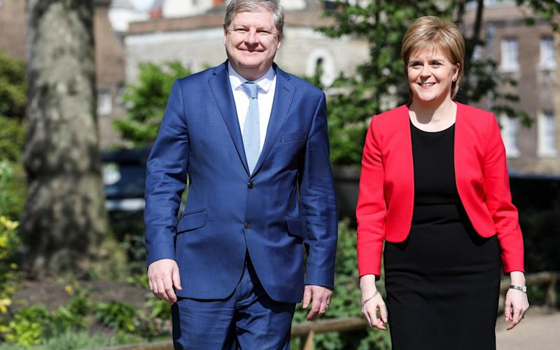 Opinion polls suggest Angus Robertson's Moray seat is under threat from the Scottish Tories - Credit: Bloomberg