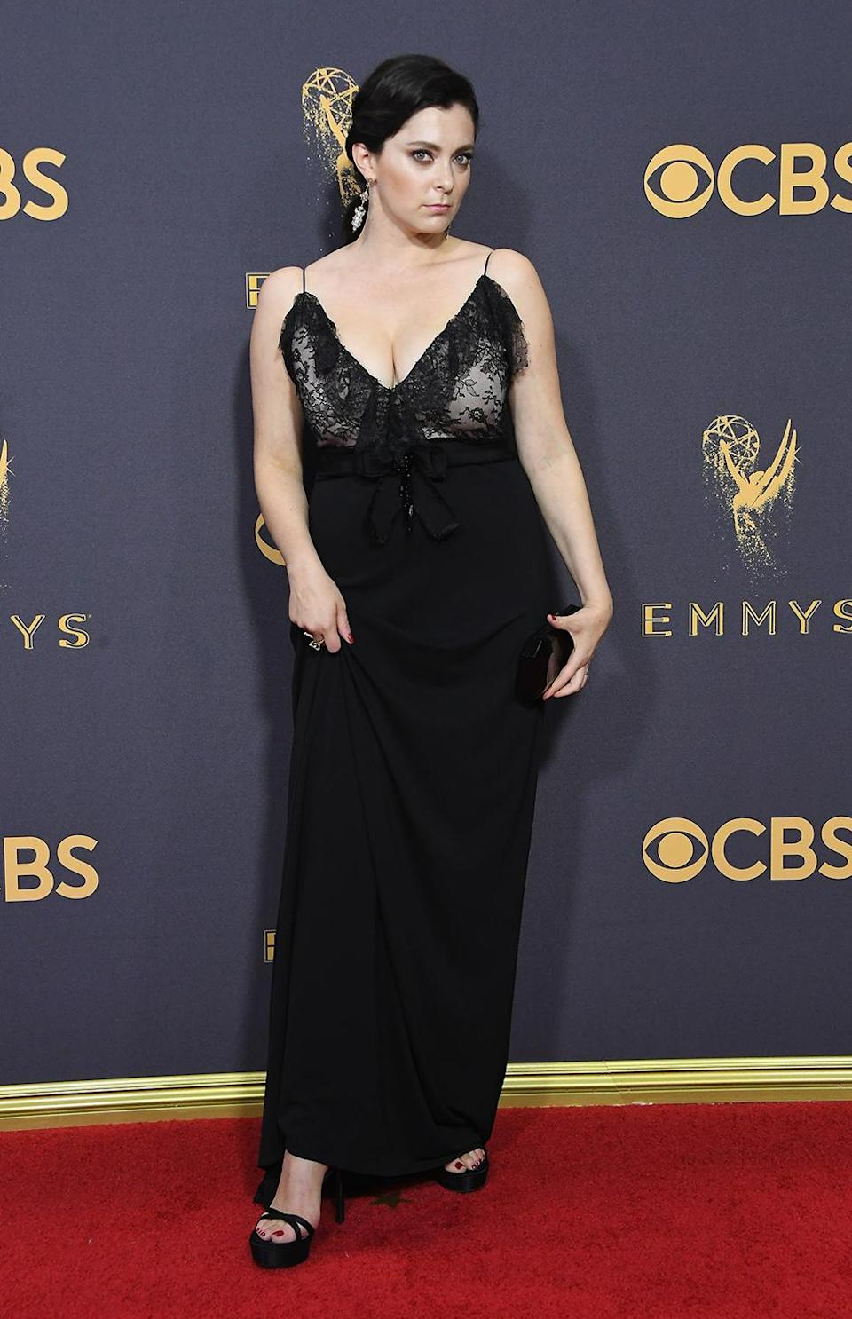 <p>Rachel Bloom attends the 69th Annual Primetime Emmy Awards at Microsoft Theater on September 17, 2017 in Los Angeles, California. (Photo by Steve Granitz/WireImage) </p>