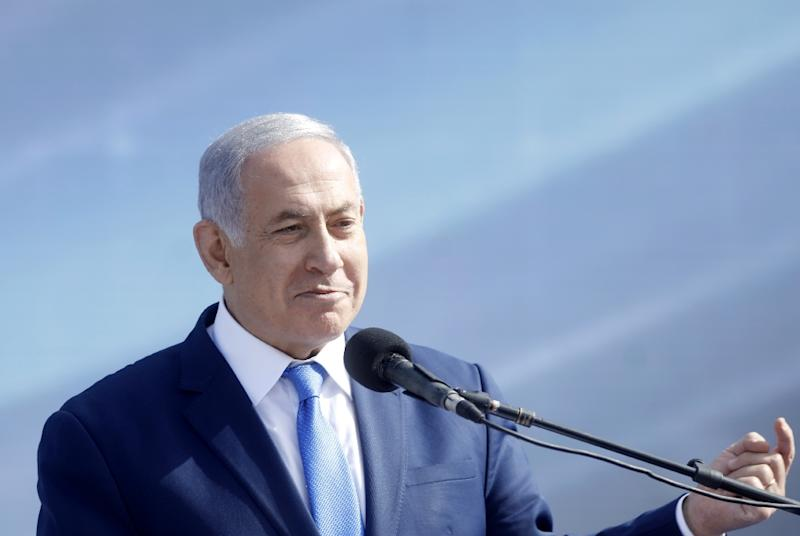"Israeli Prime Minister Benjamin Netanyahu has long portrayed himself as ""Mr Security"" to Israelis (AFP Photo/Menahem KAHANA)"
