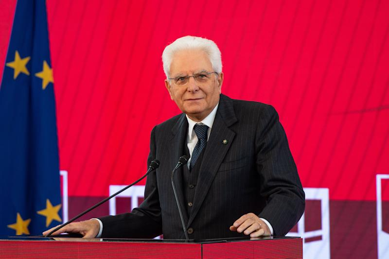 NAPLES, ITALY - OCTOBER 05: President Sergio Mattarella attends ceremony for the 180th anniversary of the Naples - Portici railway line on October 05, 2019 in Naples, Italy. The Naples - Portici railway line founded in 1839 and inaugurated on 3 October by Ferdinand II of Bourbon, is the oldest railway line in Italy and houses the National Museum of Pietrarsa railways at the Pietrarsa San Giorgio a Cremano station. (Photo by Ivan Romano/Getty Images)