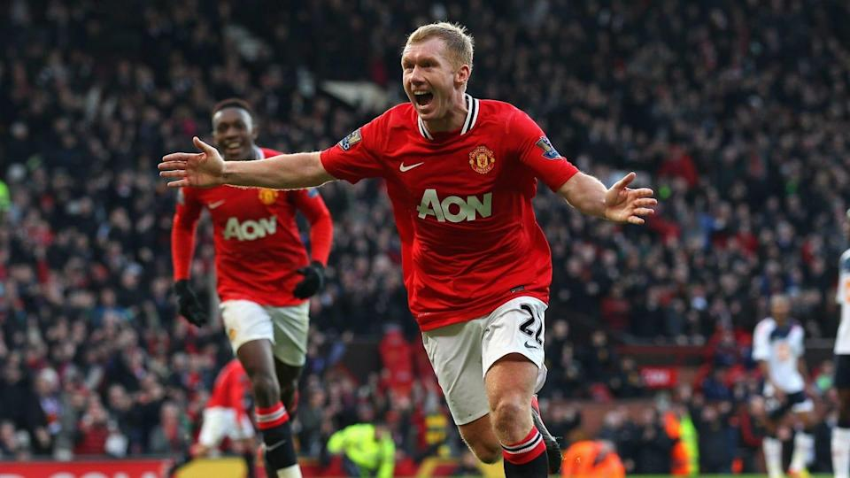 """Scholes """"viveu"""" no Old Trafford   Alex Livesey/Getty Images"""
