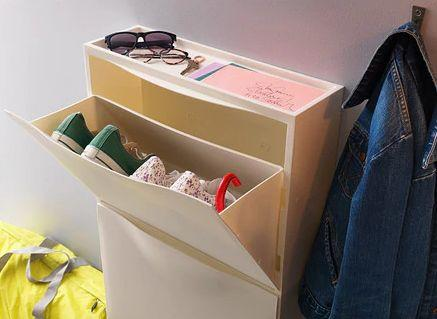 """This slim storage unit is perfect for hallways and small spaces. <a href=""""https://fave.co/2YoRim1"""" target=""""_blank"""" rel=""""noopener noreferrer"""">Find it for $25 at IKEA.</a>"""