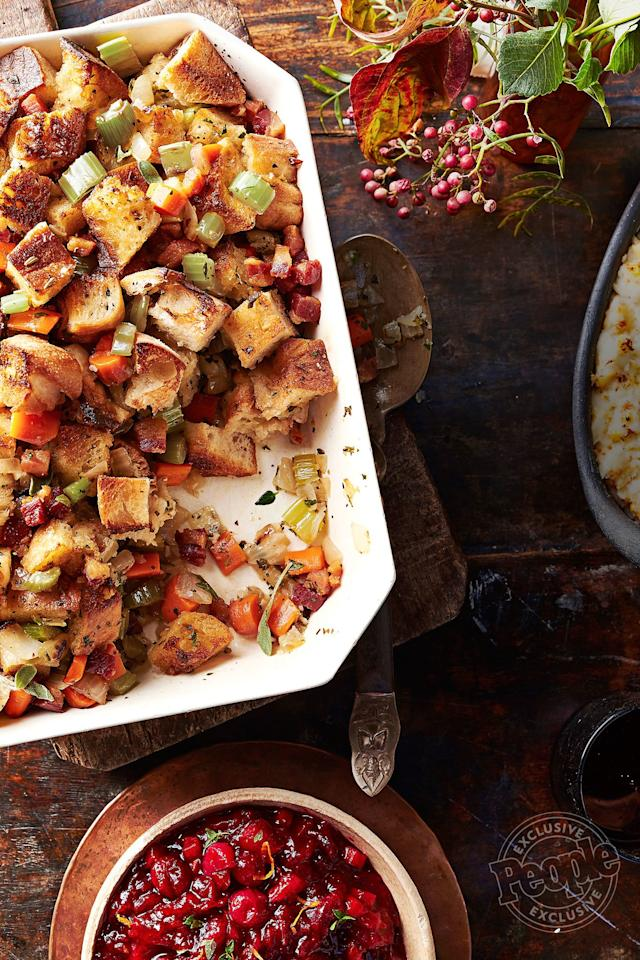 "We like to think this recipe from Chungah Rhee, the blogger behind Damn Delicious, is Simon and Garfunkel-approved: It's made with parsley, sage, rosemary and thyme. Get the <a href=""http://people.com/food/chungah-rhee-pancetta-herb-stuffing-thanksgiving-recipe/"">recipe HERE</a>."