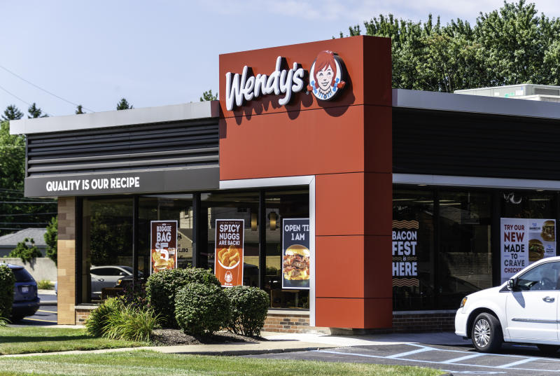 """A Wendy's location in Madison Heights, Michigan. Founded in 1969 by Dave Thomas, Wendy's is a chain of fast food restaurants with over 6,600 locations in the US and abroad."""""""