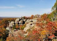 <p><strong>Best camping in Illinois:</strong> Pharaoh Campground, Garden of the Gods Recreation Area</p> <p>From its knobby, lichen-encrusted spires to its behemoth rust-colored rocks, Garden of the Gods is a park that lives up to its name. Solitude seekers will love the panoramic sunset views and the park's shady, crowd-free campground of 12 first-come, first-served sites.</p>