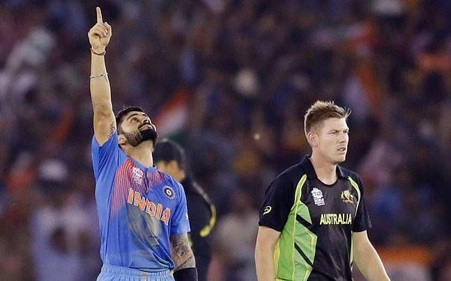 Virat Kohli after winning the match for India