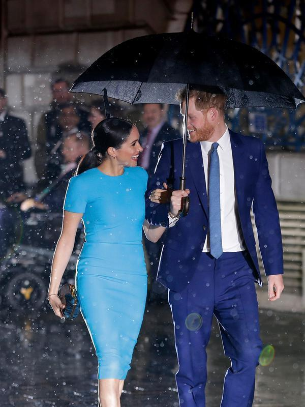 Pangeran Harry dan Meghan Markle. (AP Photo/Kirsty Wigglesworth)