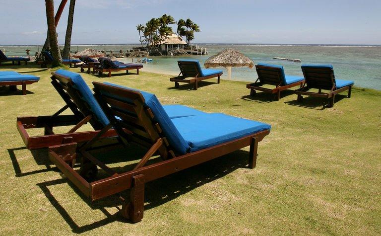 File photo shows a resort pictured near Suva, Fiji on December 9, 2006