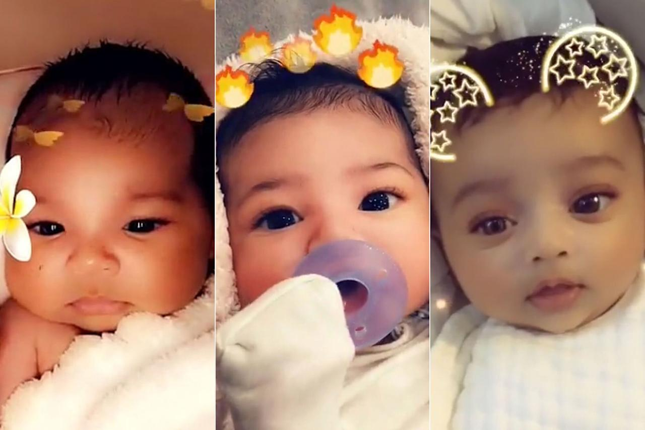 """True Thompson, Stormi Webster and Chicago West were born within four months of each other to Khloé Kardashian, Kylie Jenner and Kim Kardashian West (respectively), which made it really hard to <em>Keep Up </em>with all the birth announcements.  True, the youngest of the three, was born on April 12, 2018, Stormi was born on Feb. 2, 2018 and Chicago was born on Jan. 7, 2018.  Because of their<em>very</em>close birthdays, the girls are known as """"The Triplets"""" and they are three of the cutest cousins in Hollywood!"""