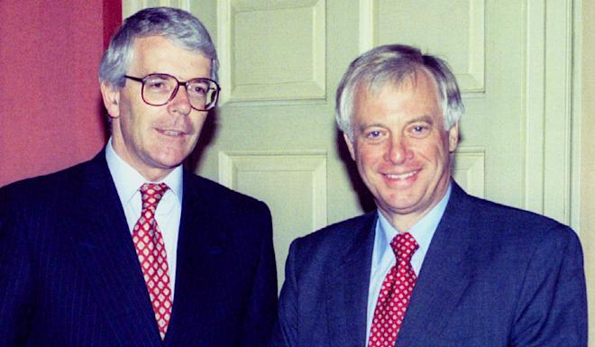 Former prime minister John Major (left) with Chris Patten, the last governor of Hong Kong at Downing Street in July 1995. Photo: Reuters