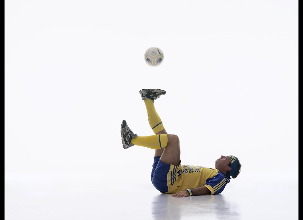 The record for the longest time controlling a soccer ball whilst lying down is 10 min and 4 sec and was achieved by Tomas Lundman (Sweden) at the Nordstan Shopping Mall, in Gothenburg, Sweden on November 24, 2007.