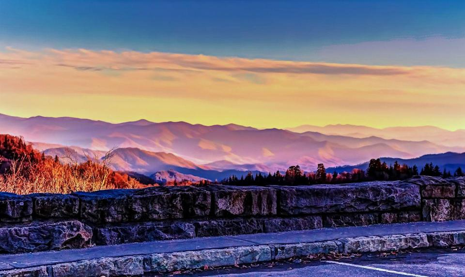 """<p><strong>The Drive:</strong> <a href=""""https://www.tripadvisor.com/Attraction_Review-g143031-d609303-Reviews-Newfound_Gap_Road-Great_Smoky_Mountains_National_Park_Tennessee.html"""" rel=""""nofollow noopener"""" target=""""_blank"""" data-ylk=""""slk:Newfound Gap Road"""" class=""""link rapid-noclick-resp"""">Newfound Gap Road</a></p><p><strong>The Scene:</strong> For 66 miles, you'll see sweeping views of the <a href=""""https://www.tripadvisor.com/Tourism-g143031-Great_Smoky_Mountains_National_Park_Tennessee-Vacations.html"""" rel=""""nofollow noopener"""" target=""""_blank"""" data-ylk=""""slk:Great Smoky Mountains"""" class=""""link rapid-noclick-resp"""">Great Smoky Mountains</a> as you make your way from <a href=""""https://www.tripadvisor.com/Tourism-g60742-Asheville_North_Carolina-Vacations.html"""" rel=""""nofollow noopener"""" target=""""_blank"""" data-ylk=""""slk:Asheville, North Carolina"""" class=""""link rapid-noclick-resp"""">Asheville, North Carolina</a> to <a href=""""https://www.tripadvisor.com/Tourism-g60842-Gatlinburg_Tennessee-Vacations.html"""" rel=""""nofollow noopener"""" target=""""_blank"""" data-ylk=""""slk:Gatlinburg, Tennessee"""" class=""""link rapid-noclick-resp"""">Gatlinburg, Tennessee</a>. Though this technically starts out of state, you'll spend most of the two-hour, 100-mile journey in Tennessee. </p><p><strong>The Pit-Stop:</strong> Take in sweeping vistas of the lush mountains at the Newfound Gap.</p>"""