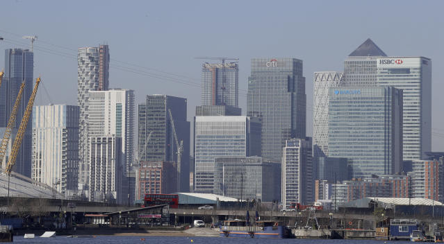 London's financial district in Canary Wharf. (Kirsty Wigglesworth/AP)
