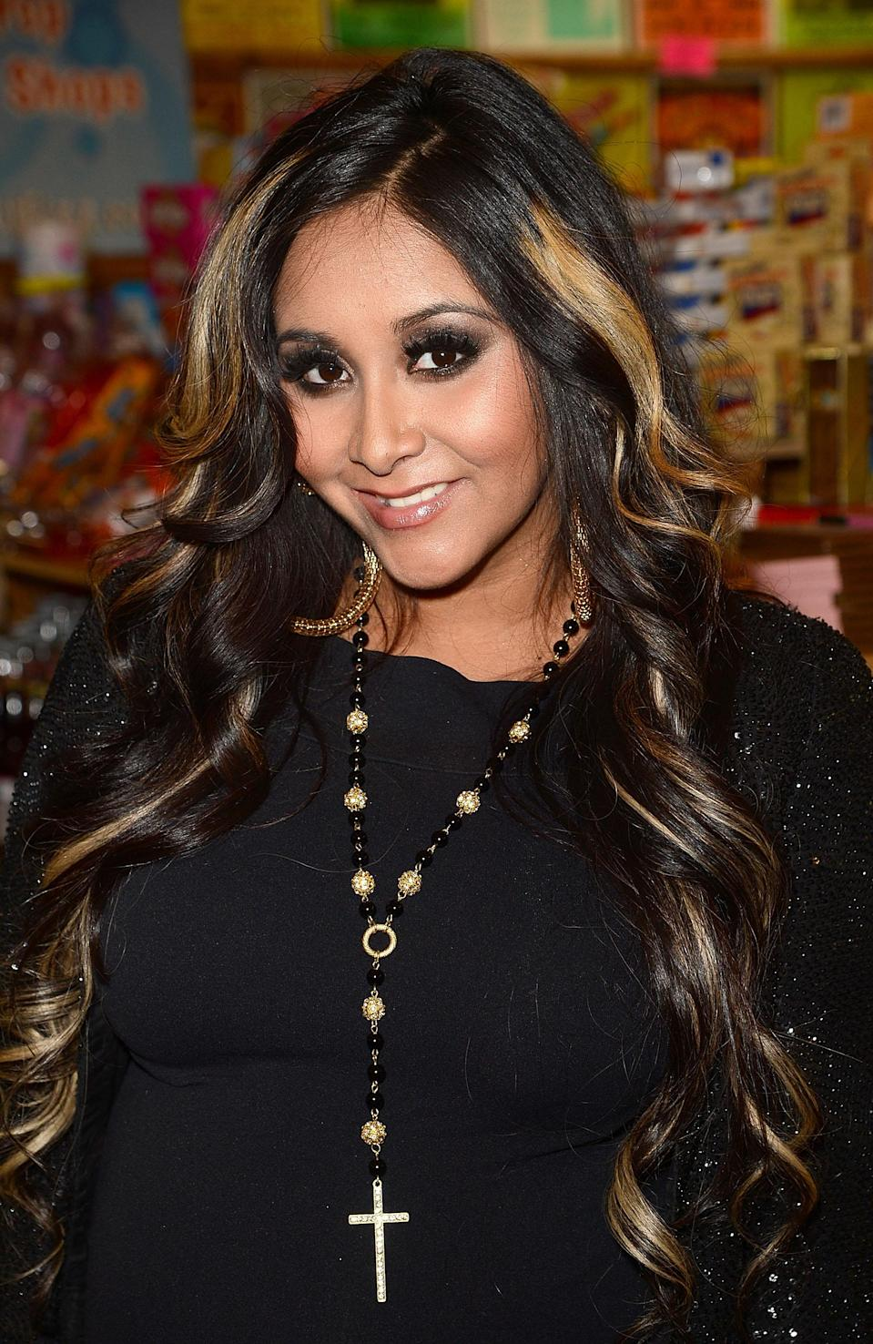 "<b>Nicole ""Snooki"" Polizzi:</b> ""My prayers go out to the victims and families of the Colorado theater shooting. #justicewillbeserved"" (Photo by Jason Merritt/Getty Images)"