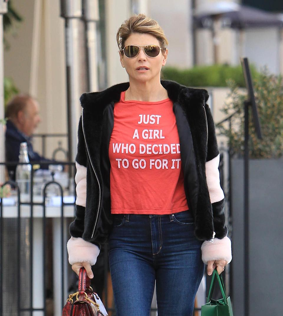 LOS ANGELES, CA - DECEMBER 31:  Lori Loughlin is seen on December 31, 2018 in Los Angeles, California.  (Photo by SMXRF/Star Max/GC Images)