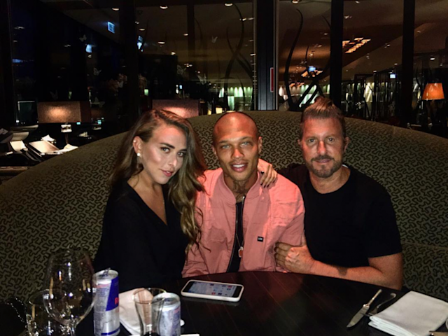 'Hot Felon' and 'Mugshot Model' Jeremy Meeks was caught on camera with British heiress Chloe Green. The tabloid press is going wild. (Photo: Instagram)