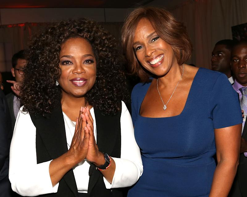"Oprah Winfrey is defending Gayle King after her ""CBS This Morning"" interview about Kobe Bryant triggered online death threats. (Photo: Greg Allen/Invision for The Hollywood Reporter/AP Images)"