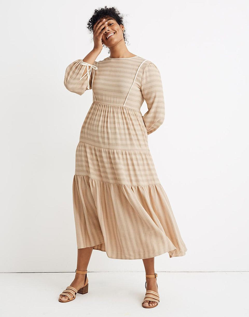 "<br><br><strong>Christy Dawn, Madewell</strong> Striped Tallulah Tie-Back Midi Dress, $, available at <a href=""https://go.skimresources.com/?id=30283X879131&url=https%3A%2F%2Fwww.madewell.com%2Fmadewell-x-christy-dawn-striped-tallulah-tie-back-midi-dress-99105609873.html%3F"" rel=""nofollow noopener"" target=""_blank"" data-ylk=""slk:Madewell"" class=""link rapid-noclick-resp"">Madewell</a>"