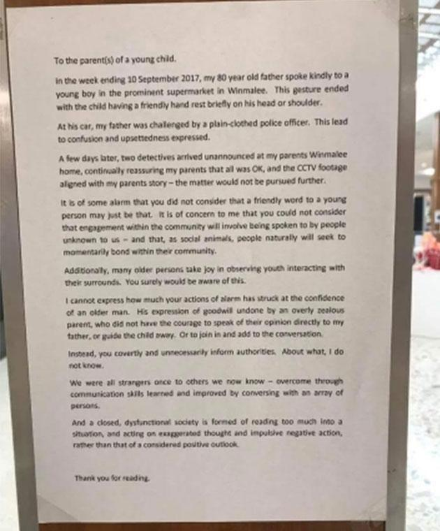The family member has hit out at the boy's parents in a letter. Photo: Reddit