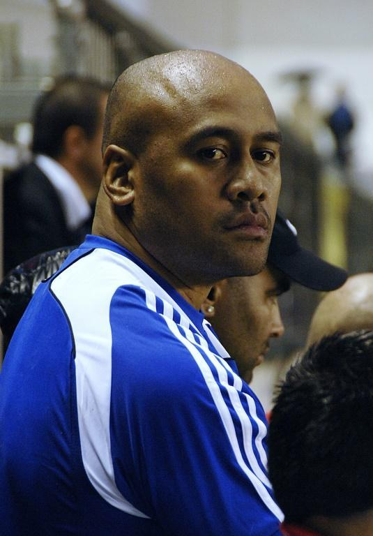 New Zealand's Jonah Lomu, seen watching a rugby match in Toulon, southern France, in 2009