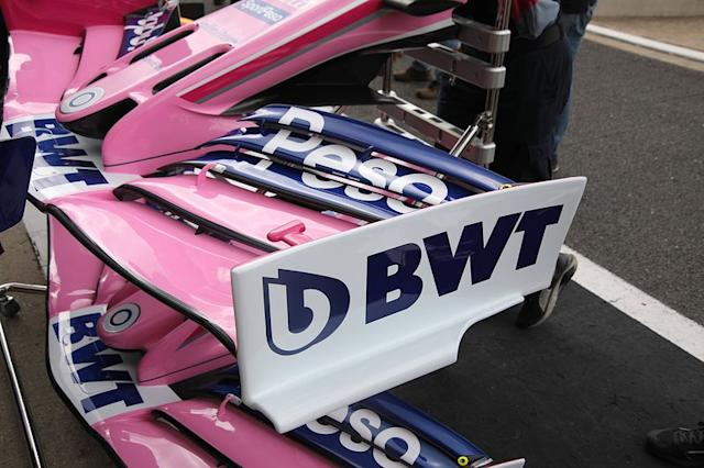 "Racing Point RP19 front wing detail <span class=""copyright"">Giorgio Piola</span>"
