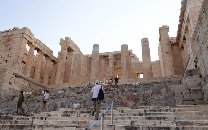 A relatively empty Acropolis this week - Getty