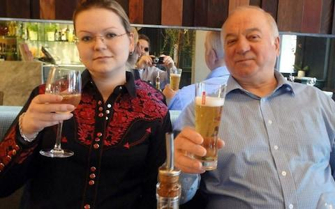 Sergei and Yulia Skripal photographed having a meal while fit and healthy - Credit: supplied by pixel8000