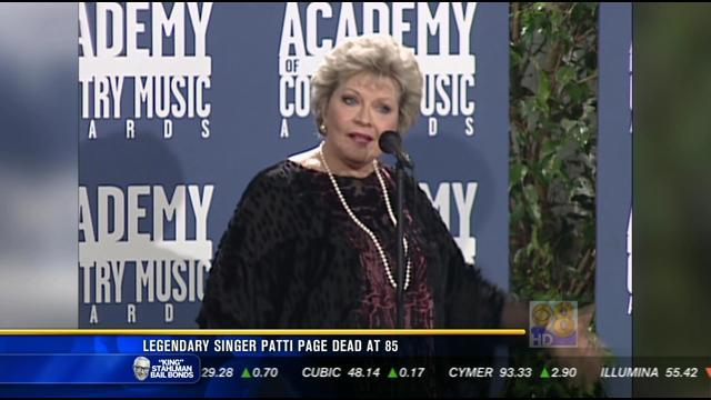Legendary singer Patti Page has passed away.