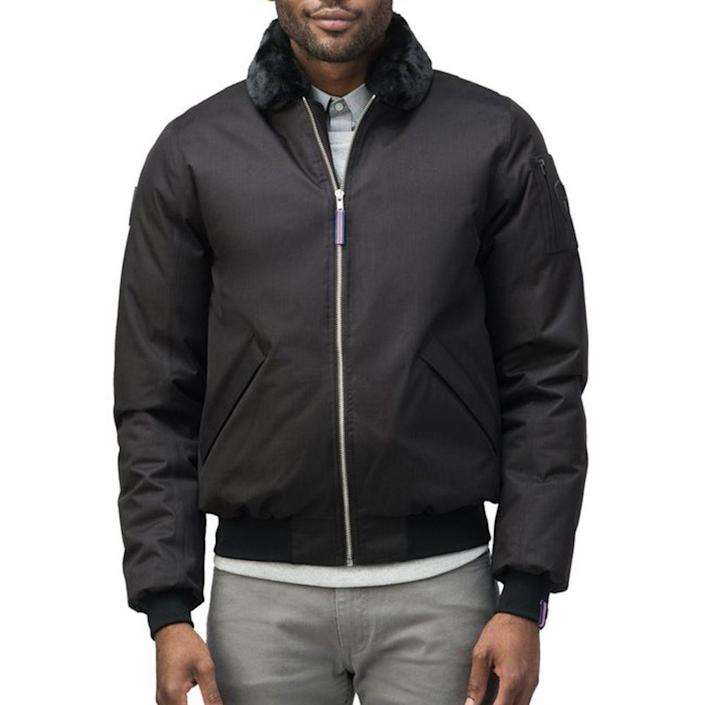 """<p>nobis.com</p><p><strong>$795.00</strong></p><p><a href=""""https://go.redirectingat.com?id=74968X1596630&url=https%3A%2F%2Fus.nobis.com%2Fcollections%2Fmen%2Fproducts%2Falpha-psg%3Fvariant%3D28037364482150&sref=https%3A%2F%2Fwww.menshealth.com%2Fstyle%2Fg26014395%2Fbest-spring-jackets-men%2F"""" rel=""""nofollow noopener"""" target=""""_blank"""" data-ylk=""""slk:BUY IT HERE"""" class=""""link rapid-noclick-resp"""">BUY IT HERE</a></p><p>This is how we like a bomber jacket—slightly utilitarian, with a little bit of a <em>Top Gun</em> vibe, yet still erring on the right side of chill. The faux-fur collar is removable, depending on your mood.</p>"""