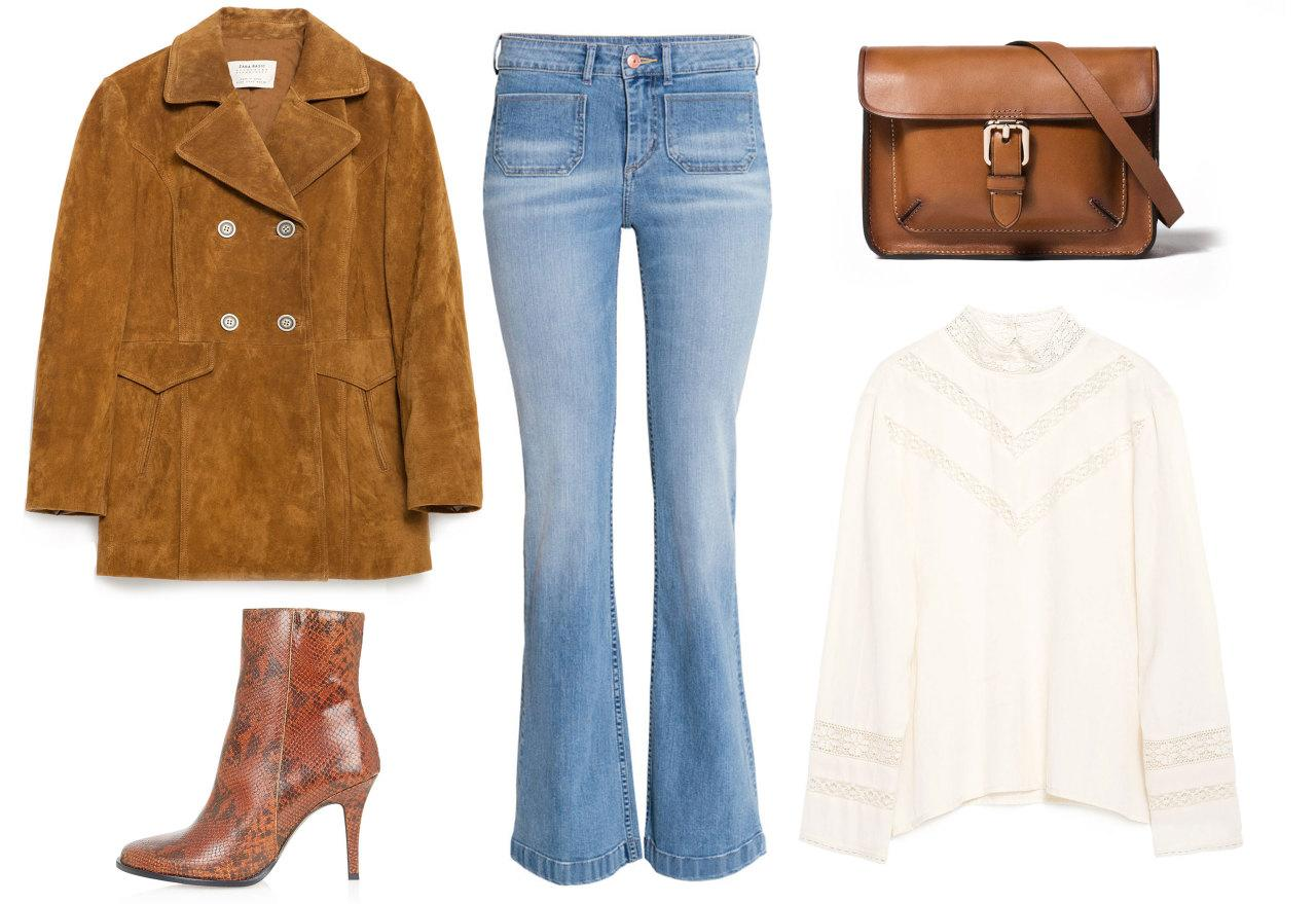 <p>Feeling boho chic? Pair this Zara jacket with an on-trend Victorian-style blouse and flared jeans. It's the perfect look for a weekend stroll or out to lunch with friends.</p>