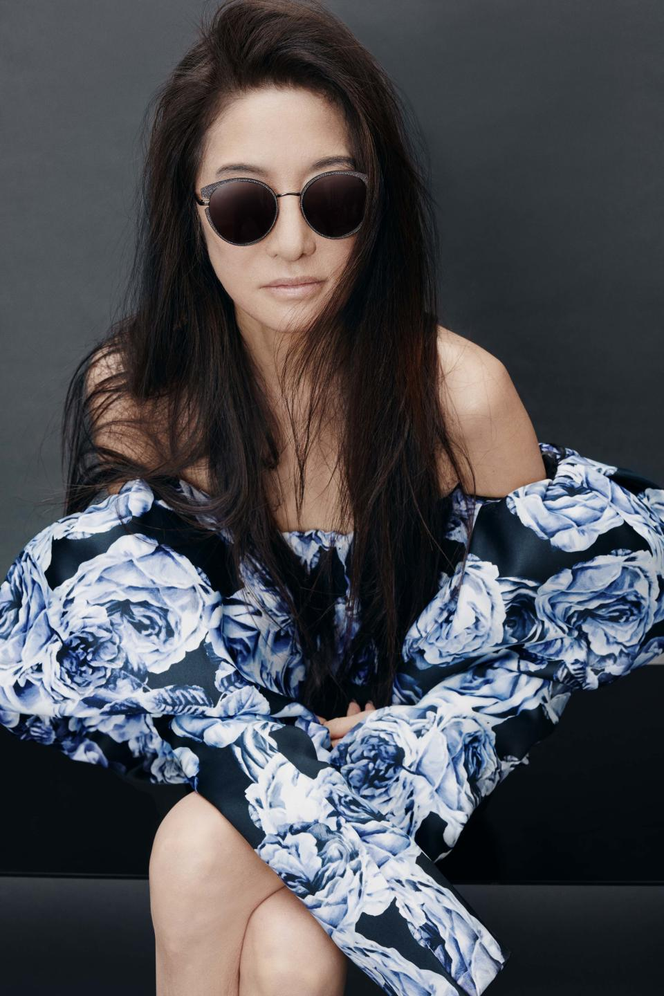 Vera Wang has made her modelling debut at the age of 71 for her very own eyewear range. Photo: supplied.