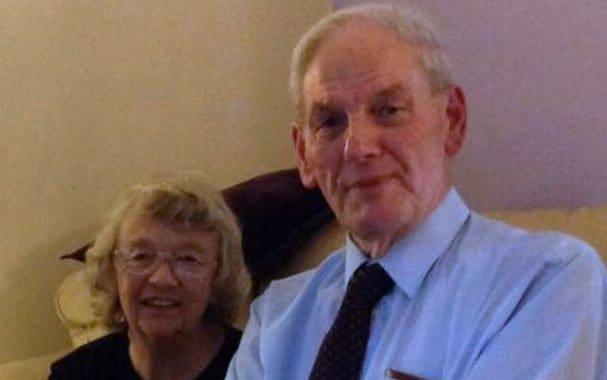 Eunice with late husband John Rees - Wales news service