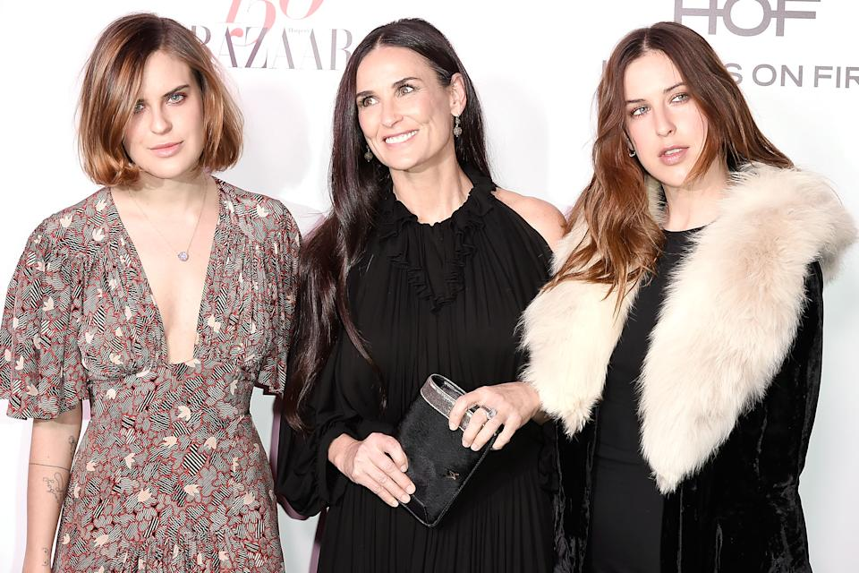 Tallulah Willis celebrated her mom Demi Moore in an emotional Mother's Day post on Instagram, looking back on the three-year period they didn't speak.  (Photo: David Crotty/Patrick McMullan via Getty Images)