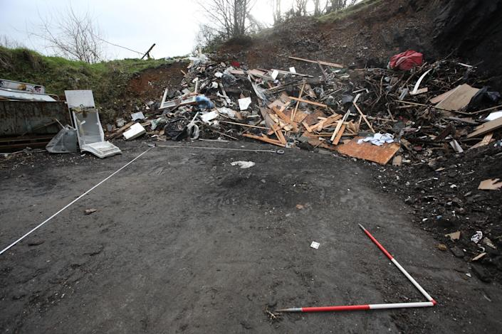 The quarry area where Michael O'Leary's body was burnt. (PA/Dyfed Powys Police)