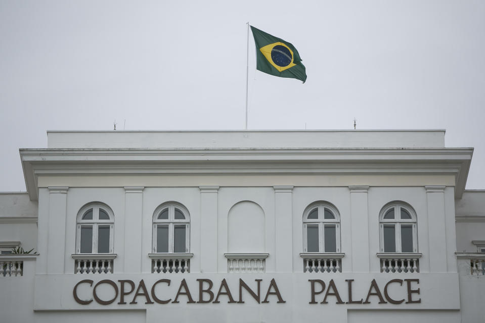 RIO DE JANEIRO, BRAZIL - APRIL 09: A general view of Copacabana Palace Hotel on April 9, 2020 in Rio de Janeiro, Brazil. With tourism in crisis due to the coronavirus (COVID-19) pandemic, Copacabana Palace Hotel closes its doors for the first time in 96 years. According to the Ministry of health, as of today, Brazil has 17.857 confirmed cases of the coronavirus (COVID-19) and at least 941 recorded deaths.(Photo by Bruna Prado/Getty Images)