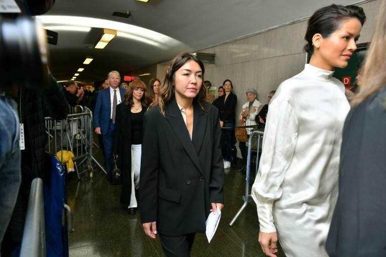 Mimi Haleyi walks into the courtroom for sentencing of movie mogul Harvey Weinstein on March 11, 2020 in New York City (AFP Photo/Roy Rochlin)
