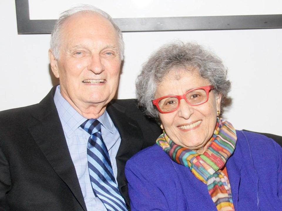 Alan Alda and his wife Arlene, who first locked eyes over a rum cake, in 2014 (Janette Pellegrini/Getty Images)