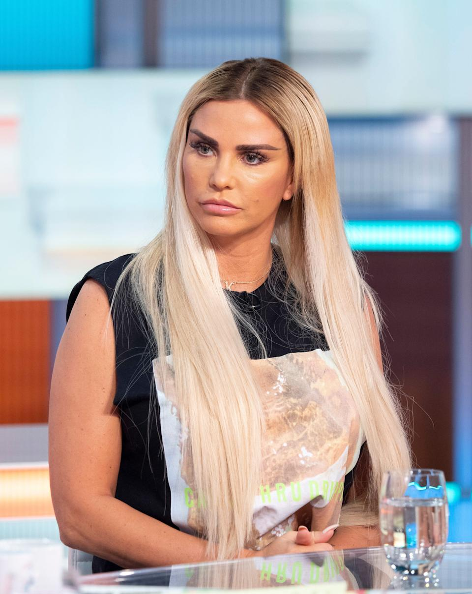 Katie Price during a 2019 appearance on Good Morning Britain (Photo: Ken McKay/ITV/Shutterstock)
