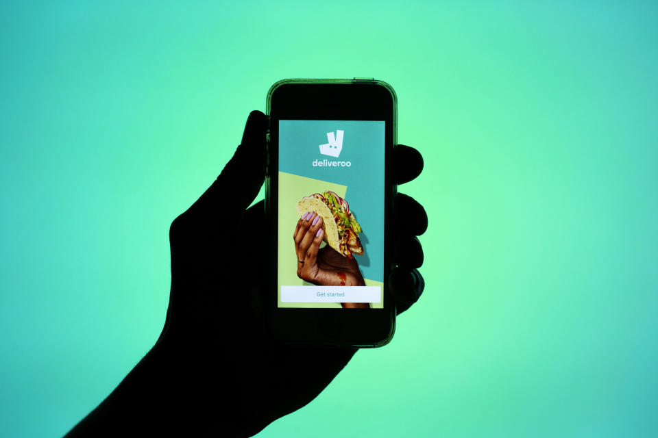 Deliveroo sold shares at 390p in its IPO but the company's share price promptly sunk 30% on Wednesday. Photo: Thiago Prudencio/SOPA/LightRocket via Getty