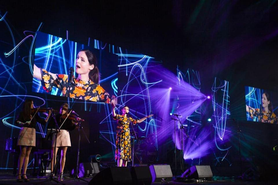 Sophie Ellis-Bextor performs live at the Audio and Radio Industry Awards. (Andrew Benge/Getty Images)