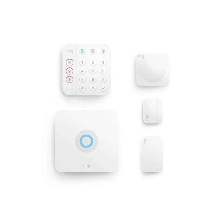 At $200, Ring's 2nd-generation 5-piece alarm kit is the best overall budget system. It comes with a base station, keypad, contact sensor, motion detector andrange extender. But it's best for homes under 1,000 square feet.